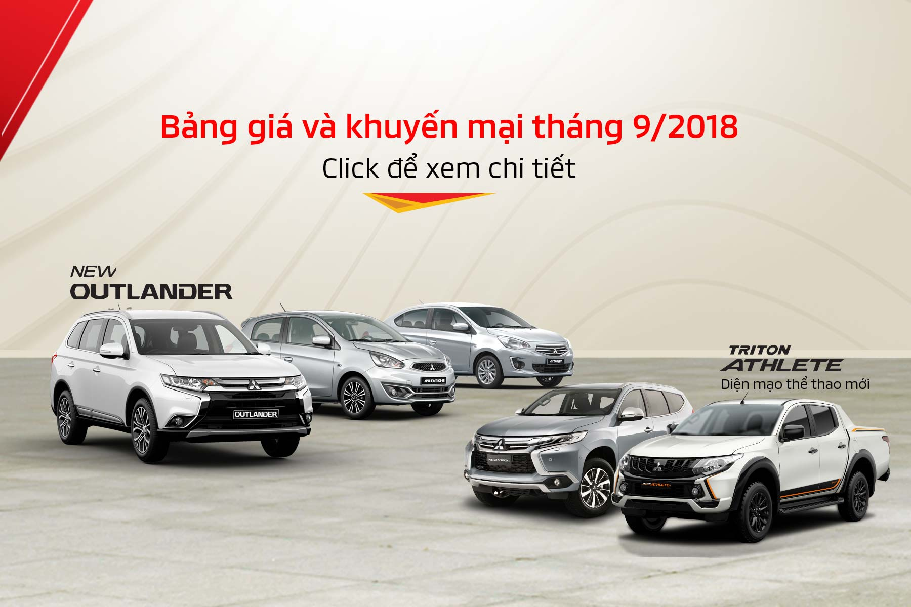 Price & promotion of Mitsubishi cars in Aug 2018