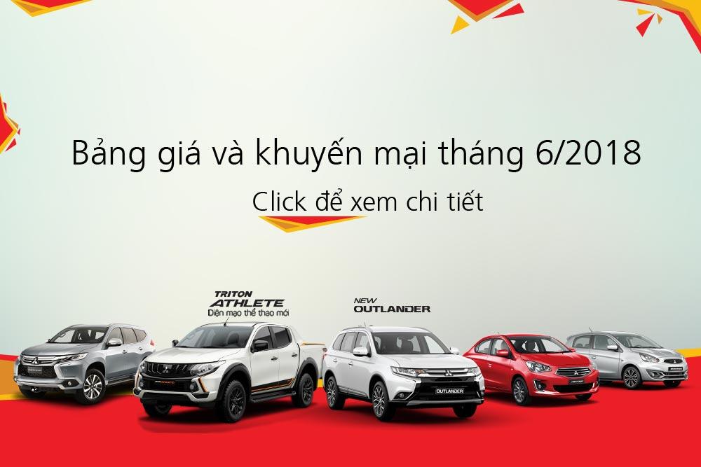 Bảng giá xe Mitsubishi tháng 06/2018