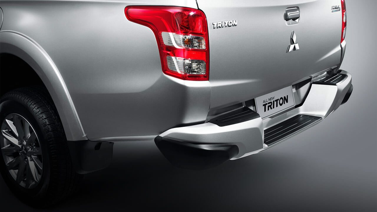 Modern chrome rear step bumper
