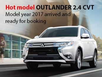 Hot model OUTLANDER 2.4 CVT. Model year 2017 arrived and ready for booking
