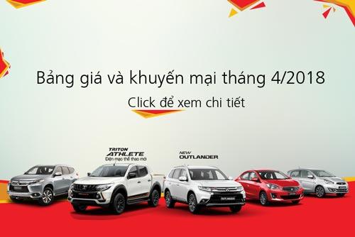 Bảng giá xe Mitsubishi tháng 04/2018