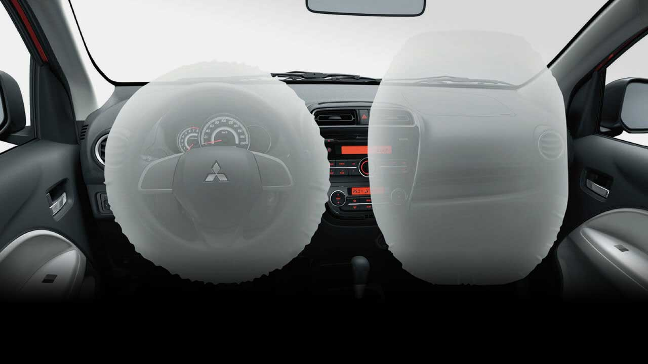 Driver and front passenger airbag