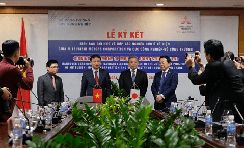 Ministry of Industry and Trade cooperates with Mitsubishi Motors to study electric cars