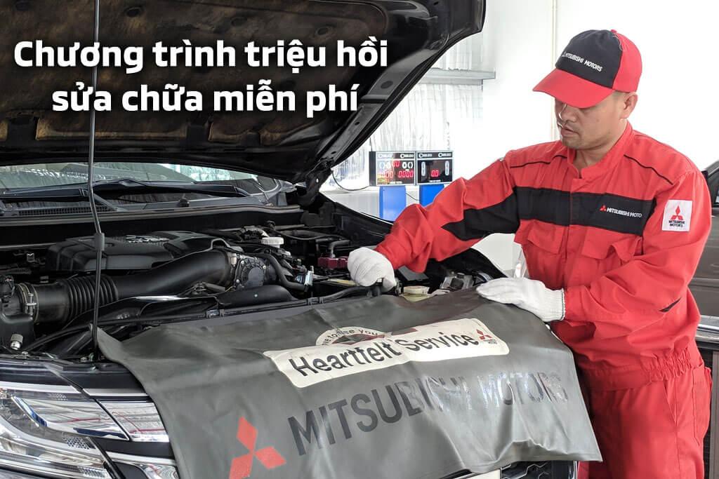 Các chương trình triệu hồi sửa chữa miễn phí xe Mitsubishi