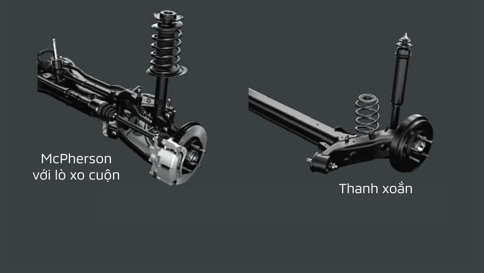 Stiff and stability suspension