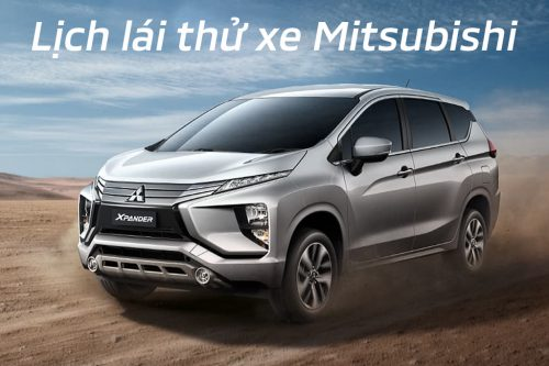 Display and test drive Mitsubishi vehicles in July 2019