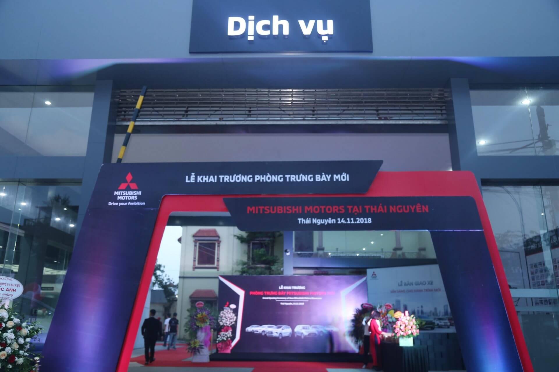 Đại lý Mitsubishi Thái Nguyên khai trương phòng trưng bày mới theo chuẩn nhận diện toàn cầu