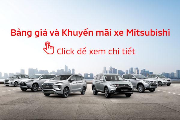 Bảng giá xe Mitsubishi tháng 08/2019
