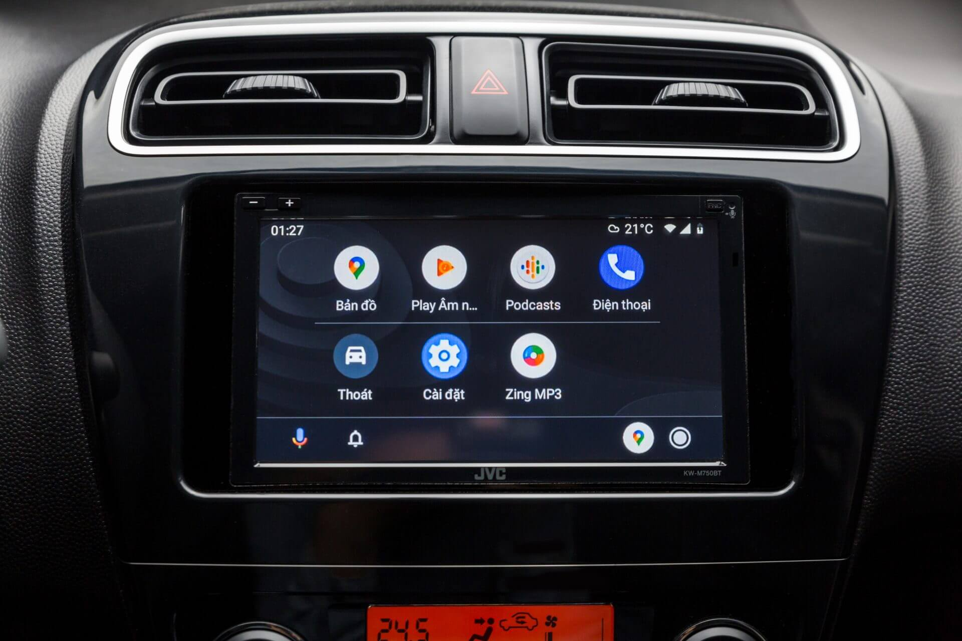 Màn hình giải trí mới với Apple Carplay và Androi Auto được trang bị trên Mitsubishi Attrage