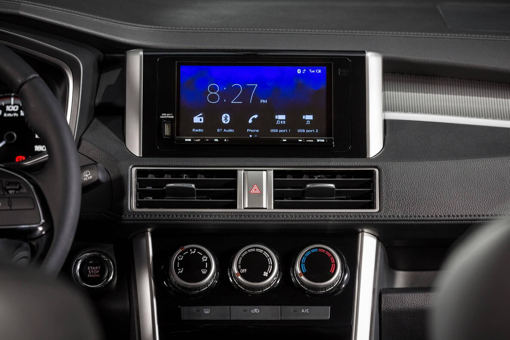 Màn hình giải trí tích hợp Apple Carplay và Androi Auto trên Mitsubishi Xpander