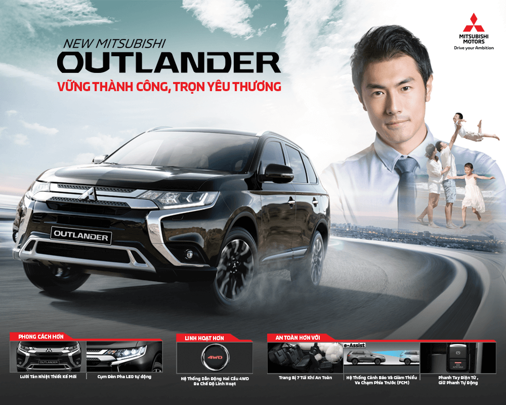 MITSUBISHI MOTORS VIETNAM INTRODUCES UPGRADED VERSION MITSUBISHI OUTLANDER 2020 2.4 CVT PREMIUM – MORE STYLISH, SAFE AND POWERFUL