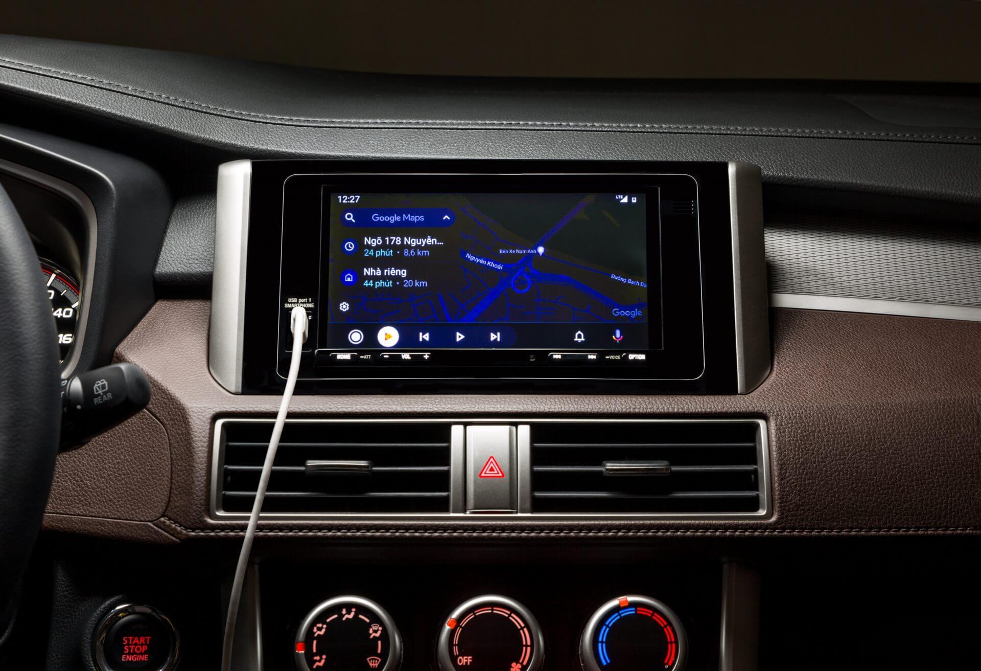 Màn hình giải trí tích hợp Apple Carplay và Androi Auto trên Mitsubishi Xpander Cross