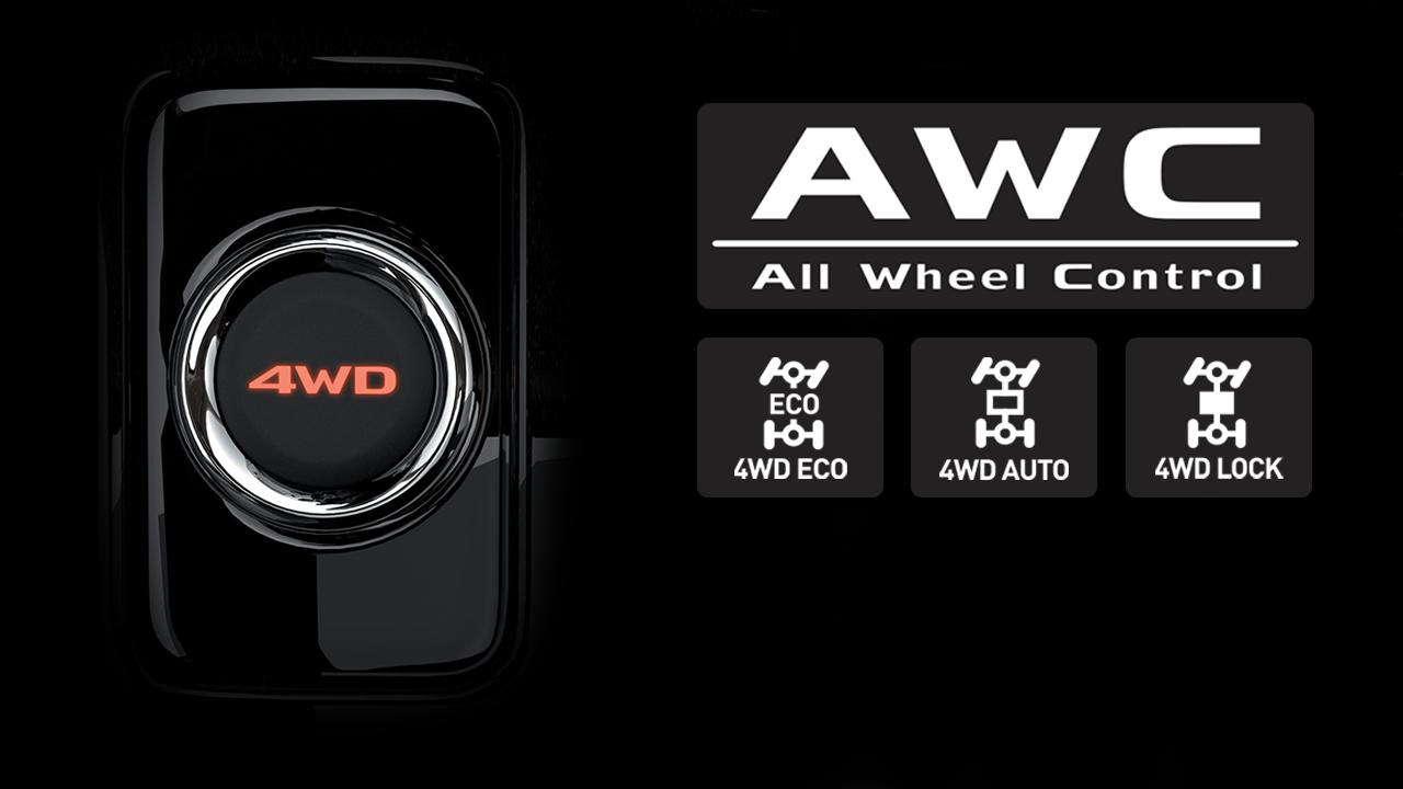Hệ thống dẫn động 2 cầu 4WD linh hoạt