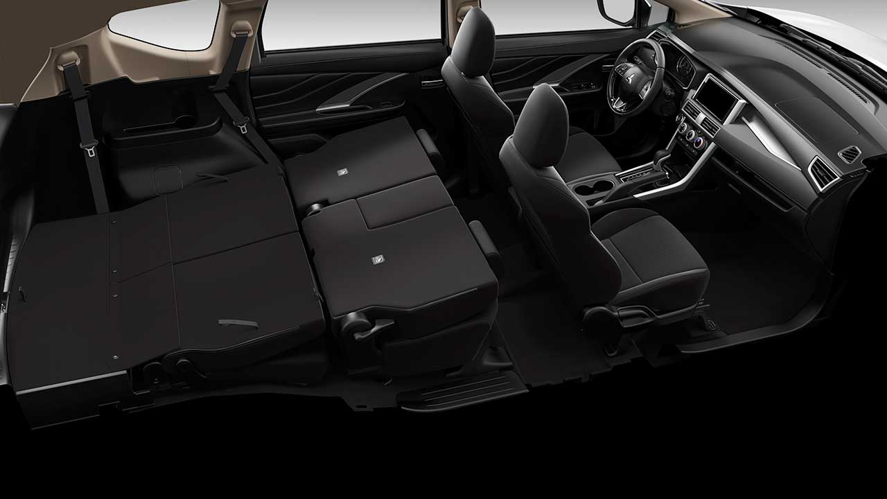 Flat floor folding for rear seats