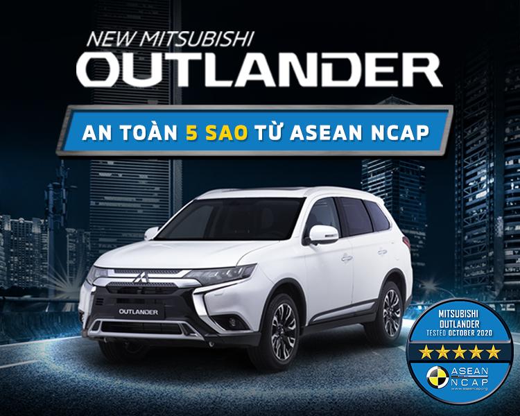 NEW MITSUBISHI OUTLANDER ĐẠT CHỨNG NHẬN TIÊU CHUẨN AN TOÀN 5 SAO ASEAN NCAP