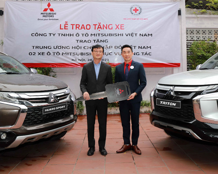 Mitsubishi Motors Vietnam Co., Ltd. Donated two units of used cars to the Vietnam Red Cross Society