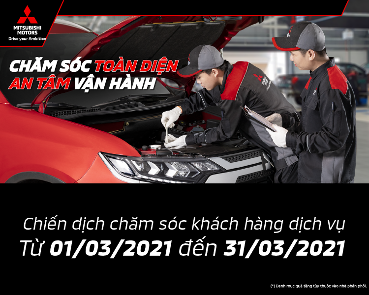 MITSUBISHI MOTORS VIETNAM INTRODUCES THE CUSTOMERS OF SERVICES CARE CAMPAIGN IN BEGINNING OF 2021