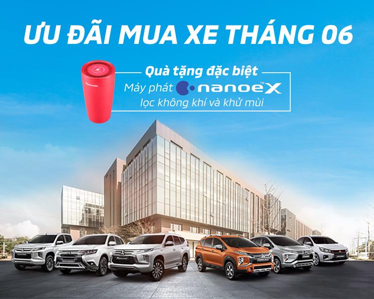 Quà tặng Máy phát Nanoe-X lọc không khí và khử mùi khi mua xe Mitsubishi từ 11 – 30/06